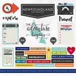 Scrapbook Customs - Canadian Province Adventure Collection - 12 x 12 Cardstock Stickers - Newfoundland