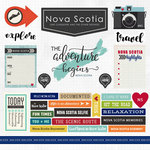 Scrapbook Customs - Canadian Province Adventure Collection - 12 x 12 Cardstock Stickers - Nova Scotia
