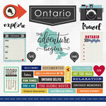Scrapbook Customs - Canadian Province Adventure Collection - 12 x 12 Cardstock Stickers - Ontario