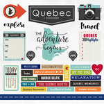 Scrapbook Customs - Canadian Province Adventure Collection - 12 x 12 Cardstock Stickers - Quebec