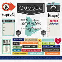 Scrapbook Customs - Canadian Province Adventure Collection - 12 x 12 Cardstock Stickers - Quebec