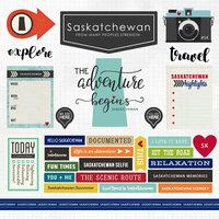 Scrapbook Customs - Canadian Province Adventure Collection - 12 x 12 Cardstock Stickers - Saskatchewan
