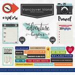 Scrapbook Customs - Canadian Province Adventure Collection - 12 x 12 Cardstock Stickers - Vancouver Island