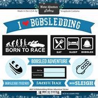Scrapbook Customs - Winter Adventure Collection - Cardstock Stickers - Bobsledding