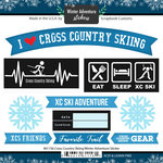 Scrapbook Customs - Winter Adventure Collection - Cardstock Stickers - Cross Country Skiing