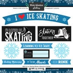 Scrapbook Customs - Winter Adventure Collection - Cardstock Stickers - Ice Skating