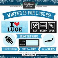 Scrapbook Customs - Winter Adventure Collection - Cardstock Stickers - Luge