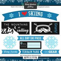 Scrapbook Customs - Winter Adventure Collection - Cardstock Stickers - Skiing
