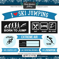 Scrapbook Customs - Winter Adventure Collection - Cardstock Stickers - Ski Jumping