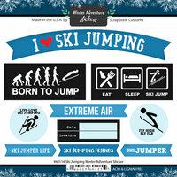 Scrapbook Customs - Winter Adventure Collection - Cardstock Stickers - Ski Jumping