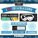 Scrapbook Customs - Winter Adventure Collection - Cardstock Stickers - Snowboarding
