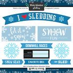 Scrapbook Customs - Winter Adventure Collection - Cardstock Stickers - Sledding