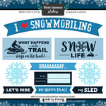 Scrapbook Customs - Winter Adventure Collection - Cardstock Stickers - Snowmobiling