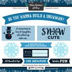 Scrapbook Customs - Winter Adventure Collection - Cardstock Stickers - Snowman