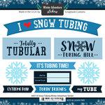 Scrapbook Customs - Winter Adventure Collection - Cardstock Stickers - Tubing