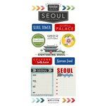 Scrapbook Customs - South Korea Adventure Collection - Cardstock Stickers - Adventure City - Seoul