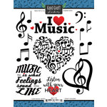 Scrapbook Customs - Music Notes Collection - Cardstock Stickers - I Love Music Notes