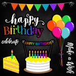 Scrapbook Customs - Neon Birthday Collection - 12 x 12 Cardstock Stickers - 1