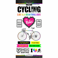 Scrapbook Customs - Neon Sports Collection - Cycling - Cardstock Stickers