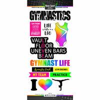 Scrapbook Customs - Neon Sports Collection - Gymnastics - Cardstock Stickers