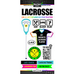 Scrapbook Customs - Neon Sports Collection - Lacrosse - Cardstock Stickers