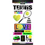 Scrapbook Customs - Neon Sports Collection - Tennis - Cardstock Stickers