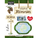 Scrapbook Customs - United States National Parks Collection - Cardstock Stickers - Watercolor - Acadia