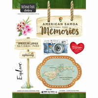 Scrapbook Customs - United States National Parks Collection - Cardstock Stickers - Watercolor - American Samoa