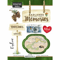 Scrapbook Customs - United States National Parks Collection - Cardstock Stickers - Watercolor - Badlands