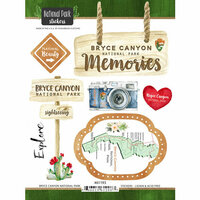 Scrapbook Customs - United States National Parks Collection - Cardstock Stickers - Watercolor - Bryce Canyon