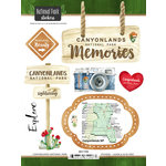 Scrapbook Customs - United States National Parks Collection - Cardstock Stickers - Watercolor - Canyonlands