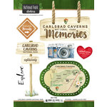 Scrapbook Customs - United States National Parks Collection - Cardstock Stickers - Watercolor - Carlsbad Caverns