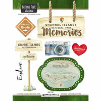 Scrapbook Customs - United States National Parks Collection - Cardstock Stickers - Watercolor - Channel Islands