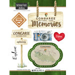 Scrapbook Customs - United States National Parks Collection - Cardstock Stickers - Watercolor - Congaree
