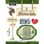 Scrapbook Customs - United States National Parks Collection - Cardstock Stickers - Watercolor - Crater Lake
