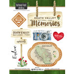 Scrapbook Customs - United States National Parks Collection - Cardstock Stickers - Watercolor - Death Valley