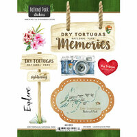 Scrapbook Customs - United States National Parks Collection - Cardstock Stickers - Watercolor - Dry Tortugas