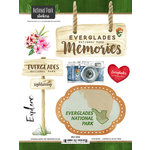 Scrapbook Customs - United States National Parks Collection - Cardstock Stickers - Watercolor - Everglades