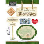 Scrapbook Customs - United States National Parks Collection - Cardstock Stickers - Watercolor - Gates of the Arctic