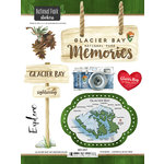 Scrapbook Customs - United States National Parks Collection - Cardstock Stickers - Watercolor - Glacier Bay