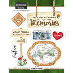 Scrapbook Customs - United States National Parks Collection - Cardstock Stickers - Watercolor - Grand Canyon