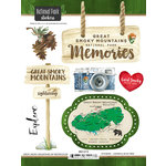 Scrapbook Customs - United States National Parks Collection - Cardstock Stickers - Watercolor - Great Smoky Mountains