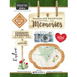 Scrapbook Customs - United States National Parks Collection - Cardstock Stickers - Watercolor - Guadalupe Mountains