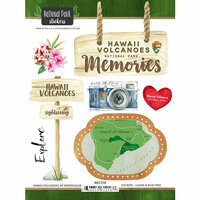 Scrapbook Customs - United States National Parks Collection - Cardstock Stickers - Watercolor - Hawaii Volcanoes