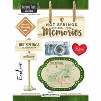 Scrapbook Customs - United States National Parks Collection - Cardstock Stickers - Watercolor - Hot Springs