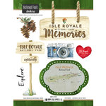 Scrapbook Customs - United States National Parks Collection - Cardstock Stickers - Watercolor - Isle Royale