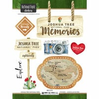 Scrapbook Customs - United States National Parks Collection - Cardstock Stickers - Watercolor - Joshua Tree