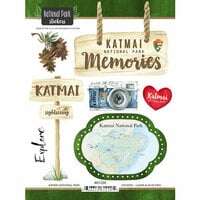 Scrapbook Customs - United States National Parks Collection - Cardstock Stickers - Watercolor - Katmai