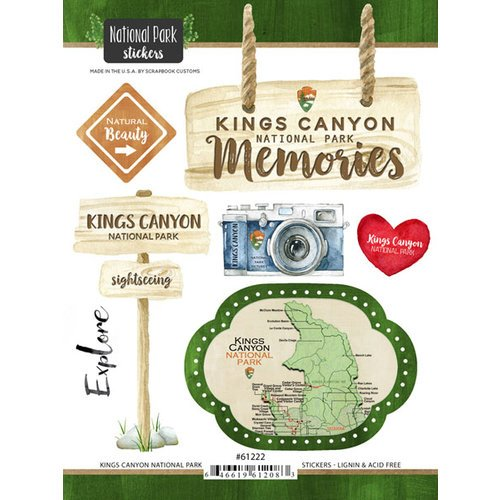 Scrapbook Customs - United States National Parks Collection - Cardstock Stickers - Watercolor - Kings Canyon