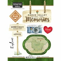 Scrapbook Customs - United States National Parks Collection - Cardstock Stickers - Watercolor - Kobuk Valley
